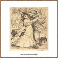 皮埃尔奥古斯特雷诺阿Pierre Auguste Renoir法国印象派重要画家雷诺阿印象派素描作品集 Dancing