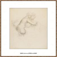皮埃尔奥古斯特雷诺阿Pierre Auguste Renoir法国印象派重要画家雷诺阿印象派素描作品集LA TOILET