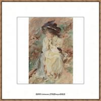约翰萨金特John Singer Sargent美国肖像画家水彩画家绘画作品集萨金特水彩作品 (93)