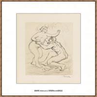 皮埃尔奥古斯特雷诺阿Pierre Auguste Renoir法国印象派重要画家雷诺阿印象派素描作品集LE FLEUVE