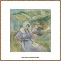 贝尔特莫里索Berthe Morisot法国印象派女画家绘画作品高清图片莫里索油画作品高清图片 (33)