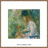 贝尔特莫里索Berthe Morisot法国印象派女画家绘画作品高清图片莫里索油画作品高清图片 (24)