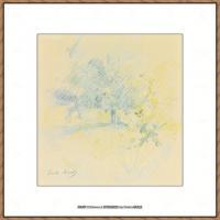 贝尔特莫里索Berthe Morisot法国印象派女画家绘画作品集素描手绘手稿底稿高清图片 (18)