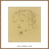 贝尔特莫里索Berthe Morisot法国印象派女画家绘画作品集素描手绘手稿底稿高清图片 (2)