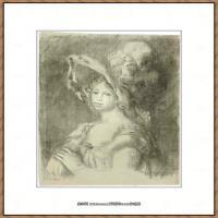 皮埃尔奥古斯特雷诺阿Pierre Auguste Renoir法国印象派重要画家雷诺阿印象派素描作品集JEUNE FEM
