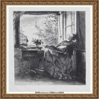 阿道夫门采尔Adolf Menzel德国著名油画家版画家插图画家绘画作品集素描手稿底稿经典作品图片 (18)