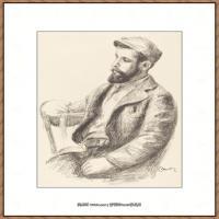 皮埃尔奥古斯特雷诺阿Pierre Auguste Renoir法国印象派重要画家雷诺阿印象派素描作品集Louis Val