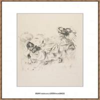 皮埃尔奥古斯特雷诺阿Pierre Auguste Renoir法国印象派重要画家雷诺阿印象派素描作品集LES ENFAN
