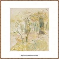 贝尔特莫里索Berthe Morisot法国印象派女画家绘画作品集素描手绘手稿底稿高清图片 (11)