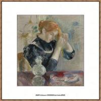 贝尔特莫里索Berthe Morisot法国印象派女画家绘画作品高清图片莫里索油画作品高清图片 (35)