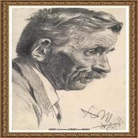 阿道夫门采尔Adolf Menzel德国著名油画家版画家插图画家绘画作品集素描手稿底稿经典作品图片 (34)
