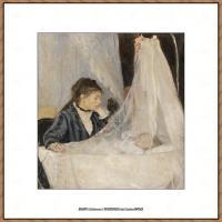 贝尔特莫里索Berthe Morisot法国印象派女画家绘画作品高清图片莫里索油画作品高清图片 (58)