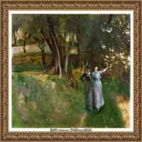 约翰萨金特John Singer Sargent美国肖像画家水彩画家绘画作品集萨金特油画作品 (19)