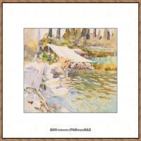 约翰萨金特John Singer Sargent美国肖像画家水彩画家绘画作品集萨金特水彩作品 (78)