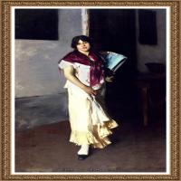 约翰萨金特John Singer Sargent美国肖像画家水彩画家绘画作品集萨金特油画作品 (16)