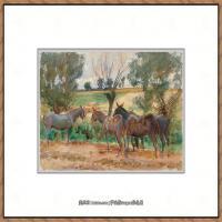 约翰萨金特John Singer Sargent美国肖像画家水彩画家绘画作品集萨金特水彩作品 (114)