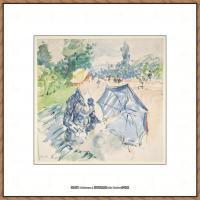 贝尔特莫里索Berthe Morisot法国印象派女画家绘画作品高清图片莫里索油画作品高清图片 (6)