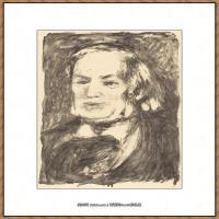 皮埃尔奥古斯特雷诺阿Pierre Auguste Renoir法国印象派重要画家雷诺阿印象派素描作品集 Richard