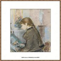 贝尔特莫里索Berthe Morisot法国印象派女画家绘画作品高清图片莫里索油画作品高清图片 (30)
