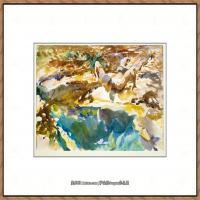 约翰萨金特John Singer Sargent美国肖像画家水彩画家绘画作品集萨金特水彩作品 (91)