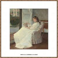 贝尔特莫里索Berthe Morisot法国印象派女画家绘画作品高清图片莫里索油画作品高清图片 (53)