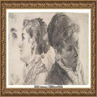 阿道夫门采尔Adolf Menzel德国著名油画家版画家插图画家绘画作品集素描手稿底稿经典作品图片 (6)