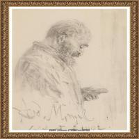 阿道夫门采尔Adolf Menzel德国著名油画家版画家插图画家绘画作品集素描手稿底稿经典作品图片 (15)