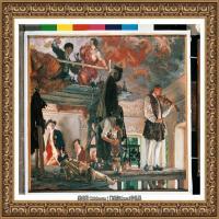 阿道夫门采尔Adolf Menzel德国著名油画家版画家插图画家绘画作品集西方绘画大师经典作品集 (11)