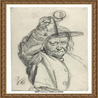 阿道夫门采尔Adolf Menzel德国著名油画家版画家插图画家绘画作品集素描手稿底稿经典作品图片 (14)