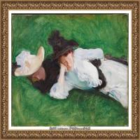 约翰萨金特John Singer Sargent美国肖像画家水彩画家绘画作品集萨金特油画作品 (35)