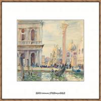 约翰萨金特John Singer Sargent美国肖像画家水彩画家绘画作品集萨金特水彩作品 (129)