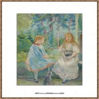 贝尔特莫里索Berthe Morisot法国印象派女画家绘画作品高清图片莫里索油画作品高清图片 (1)