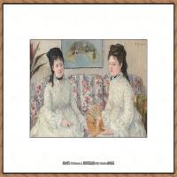贝尔特莫里索Berthe Morisot法国印象派女画家绘画作品高清图片莫里索油画作品高清图片 (47)