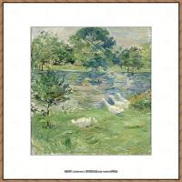 贝尔特莫里索Berthe Morisot法国印象派女画家绘画作品高清图片莫里索油画作品高清图片 (49)