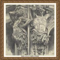 阿道夫门采尔Adolf Menzel德国著名油画家版画家插图画家绘画作品集素描手稿底稿经典作品图片 (32)