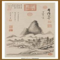 明董其昌奇峰白云图轴-中国台湾台北故宫博物院馆藏