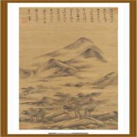 董其昌-山水精品图 绢本