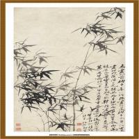 清 郑板桥- 风竹石图 纸本 64