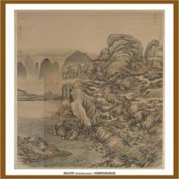 清董邦达画返照归云图轴-中国台湾台北故宫博物院馆藏