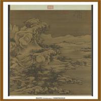 宋郭熙画雪景轴-中国台湾台北故宫博物院馆藏