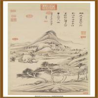 明董其昌烟树茆堂轴-中国台湾台北故宫博物院馆藏