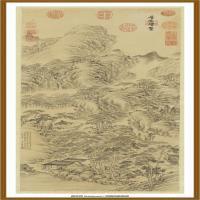 清董邦达层峦耸翠轴-中国台湾台北故宫博物院馆藏