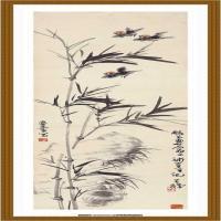 竹鸟 纸本 41