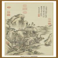 清董邦达霜林萧寺图轴-中国台湾台北故宫博物院馆藏