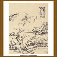 胡公寿-枯木竹石图 纸本