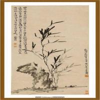 李方膺-竹石图轴