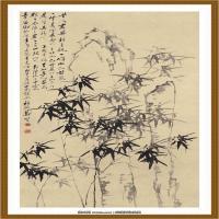 郑板桥-竹石图 纸本 90X170cm