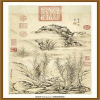 清董邦达画山水高宗御题轴-中国台湾台北故宫博物院馆藏