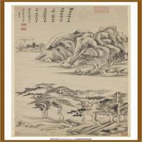 明董其昌石磴飞流轴-中国台湾台北故宫博物院馆藏