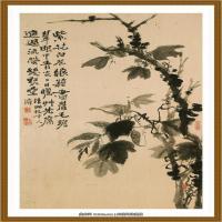 52-清-石涛-山水花卉八开-03-画